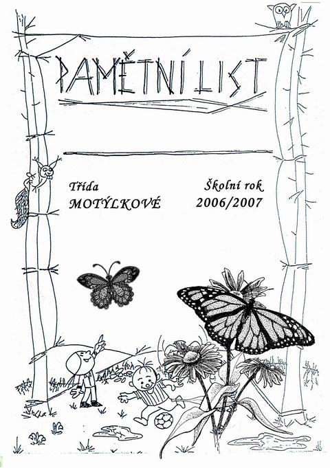 13b) pamětní list léto - školka motýlci 2006/2007
